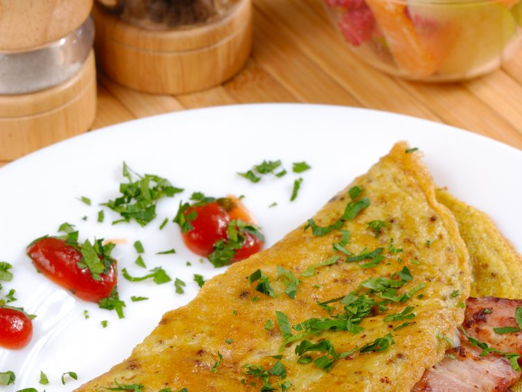 High Protein Simple Bacon Omelet