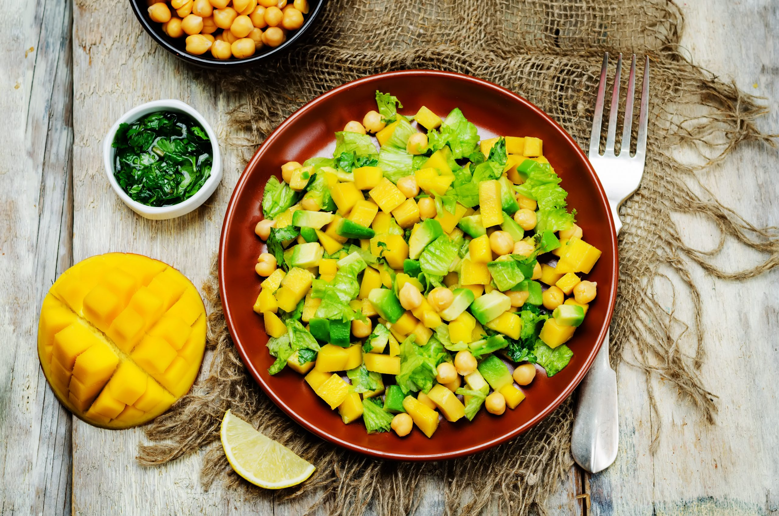 Flavorful Chickpea, Avocado, and Mango Salad