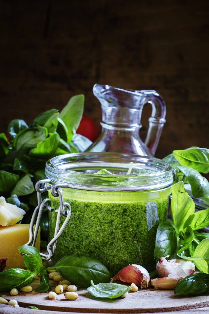 pesto sauce in a jar