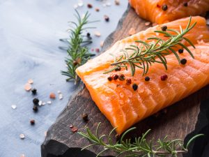salmon with spices