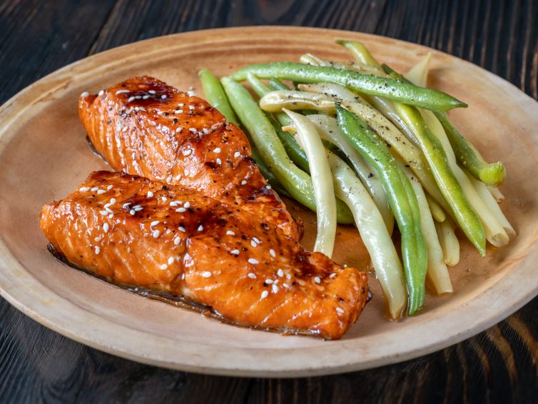 Salmon With Homemade Teriyaki Sauce