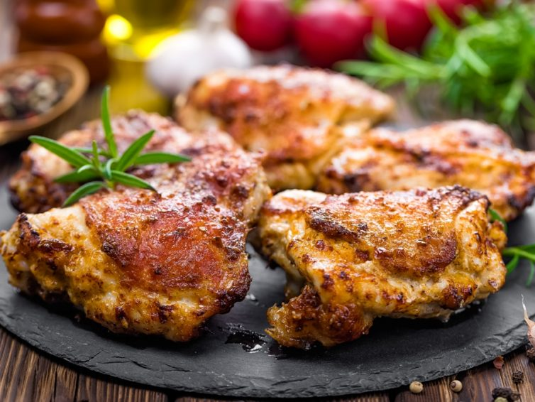 Baked Chicken Thighs With Garlic Butter