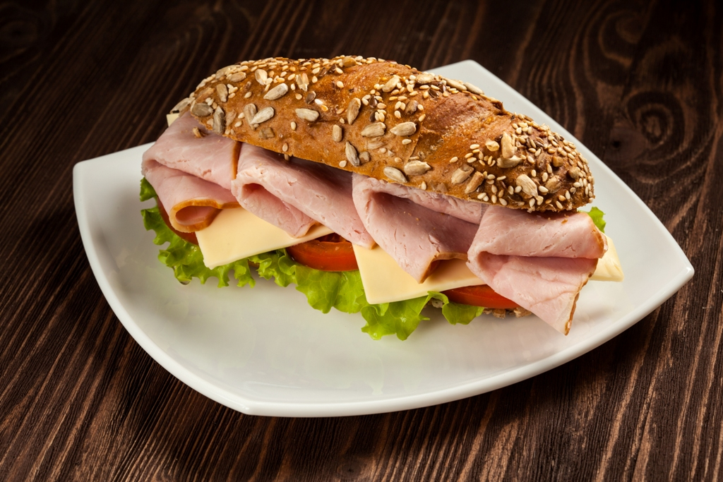 Herb Enhanced Ham & Cheese Sandwich