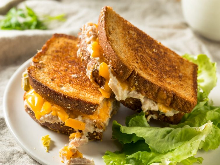 Homemade Tuna Melt Sandwich