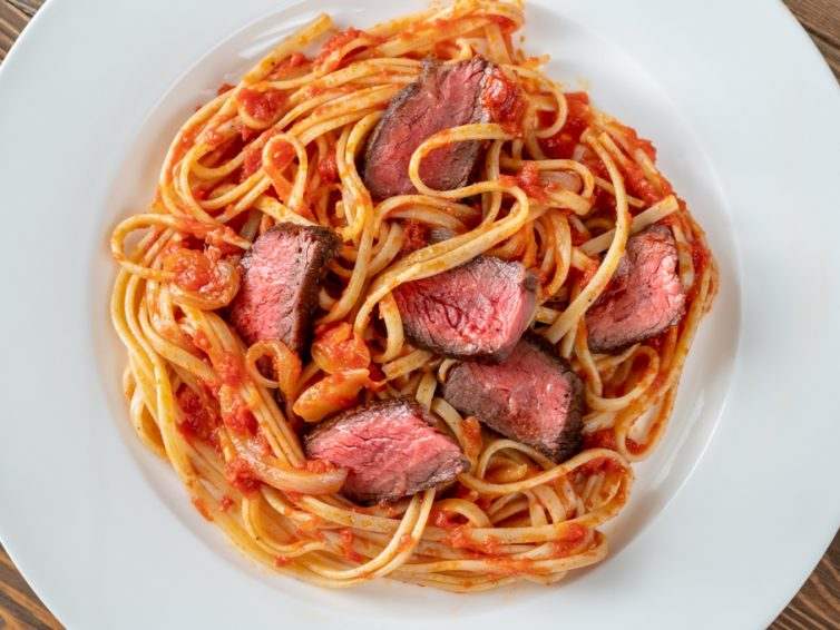 Beef Steak Linguine Pasta